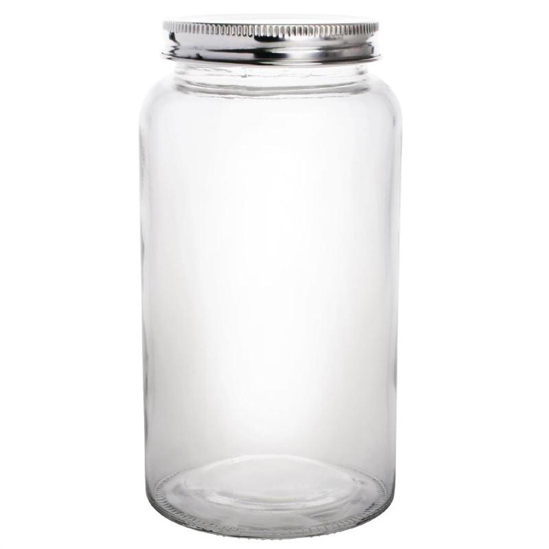 Vogue Glass Screw Top Preserving Jar 800ml - Case 6 - CP084