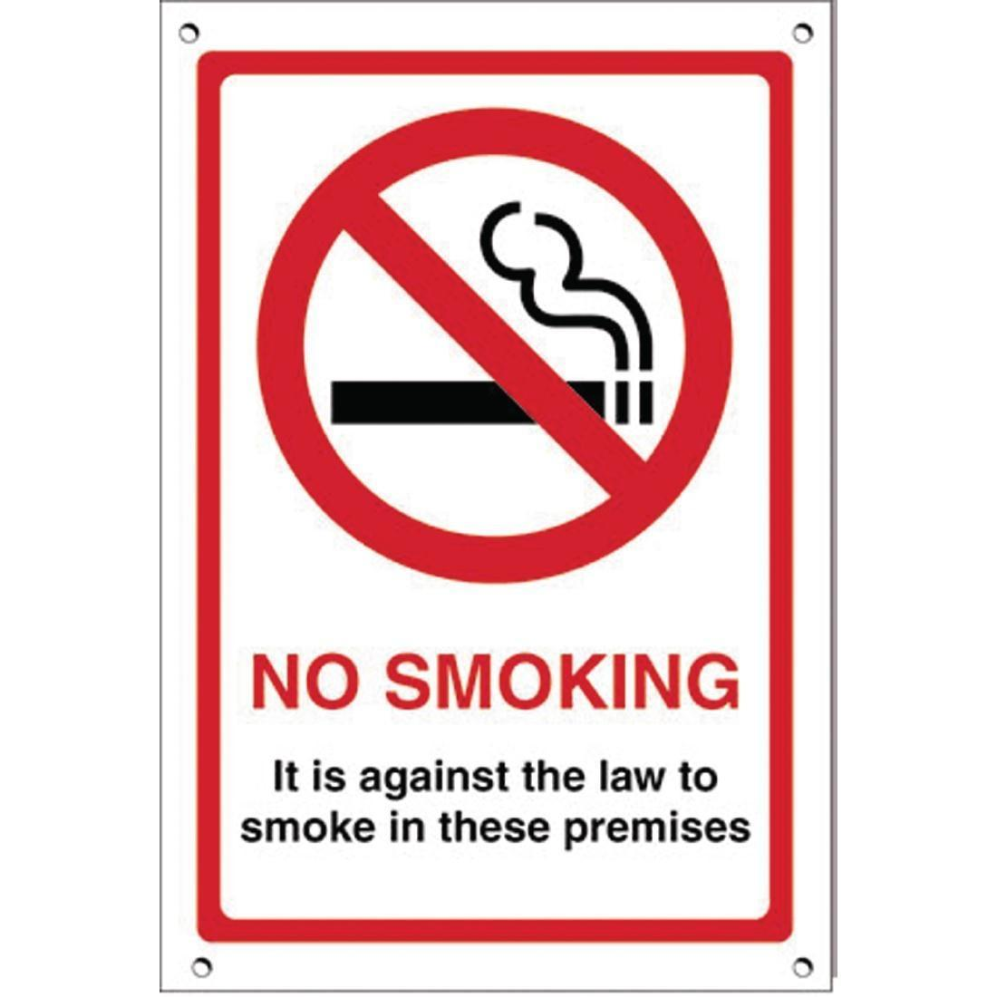 No Smoking Premises Sign - Each - G537