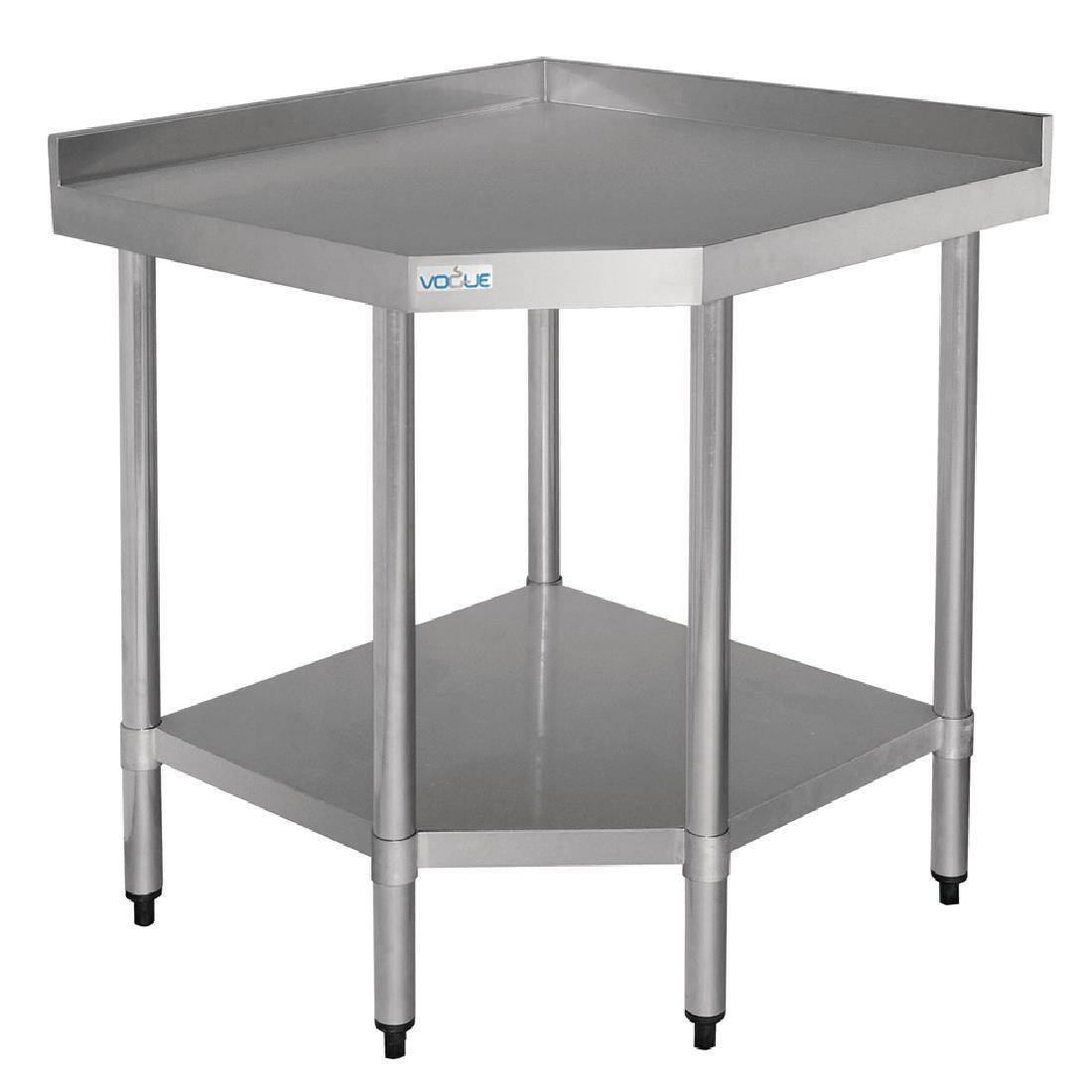 Vogue Stainless Steel Corner Table 700mm - Each - GL278