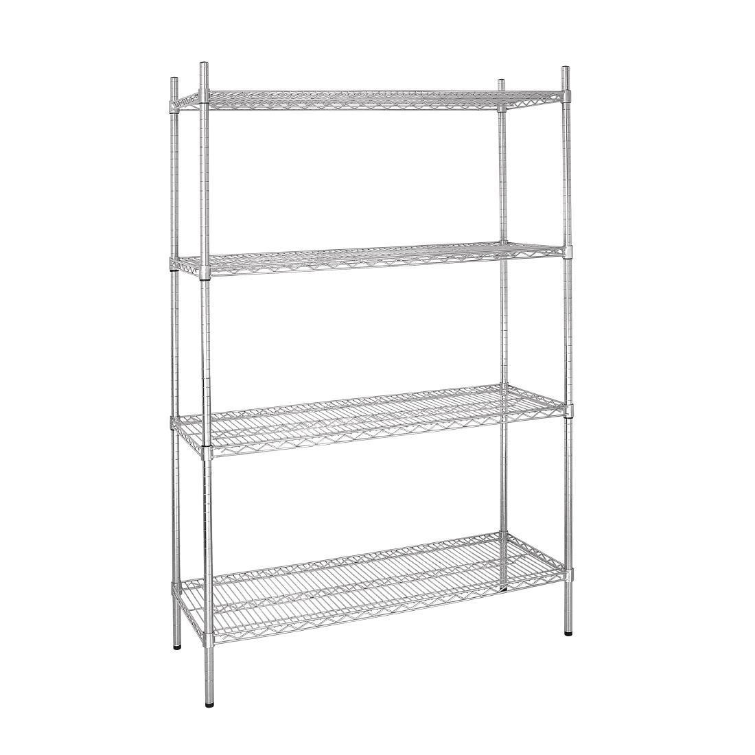 Vogue 4 Tier Wire Shelving Kit 1220x460mm - L928