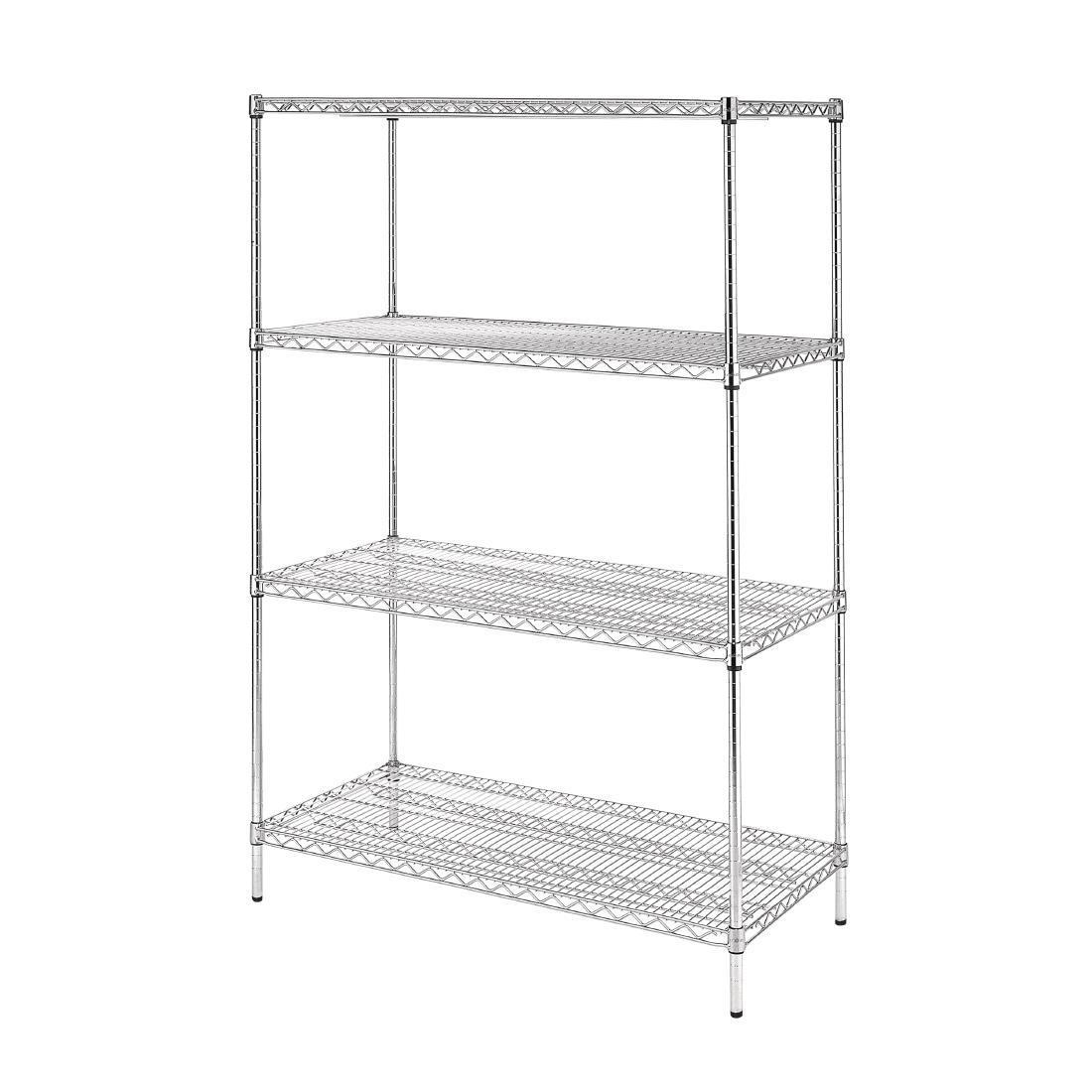 Vogue 4 Tier Wire Shelving Kit 1220x610mm - U257