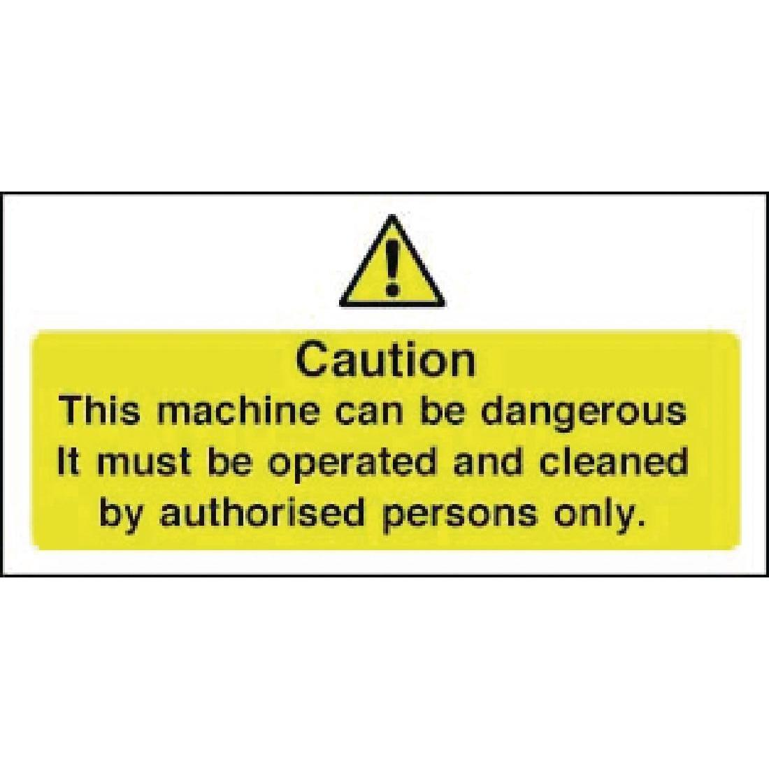 Vogue Dangerous Machine Sign - W298