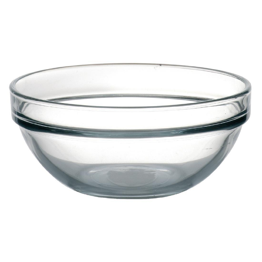 "Arc Chefs Glass Bowl - 340ml 11.9oz 12cm 4.8"" (Box 6) - E554"