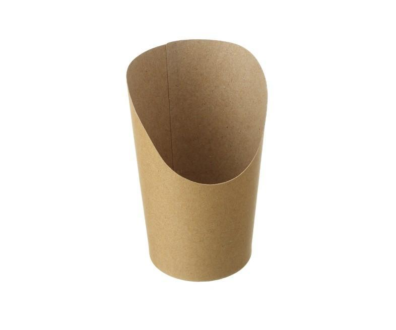 Snack Cup Cone Kraft Compostable 80/60 x 70/110 mm