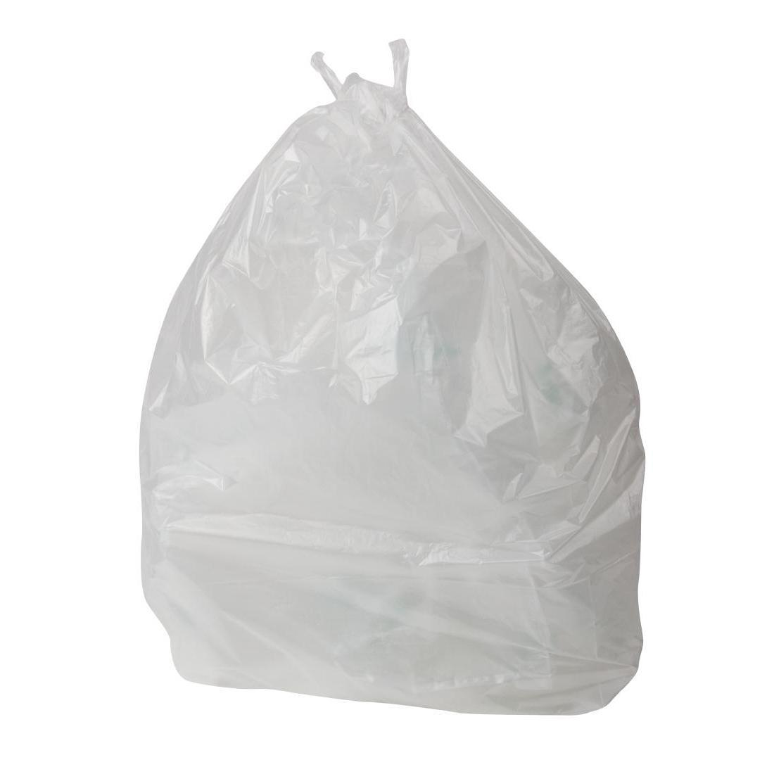 Jantex Small White Swing Bin Liners 50Ltr