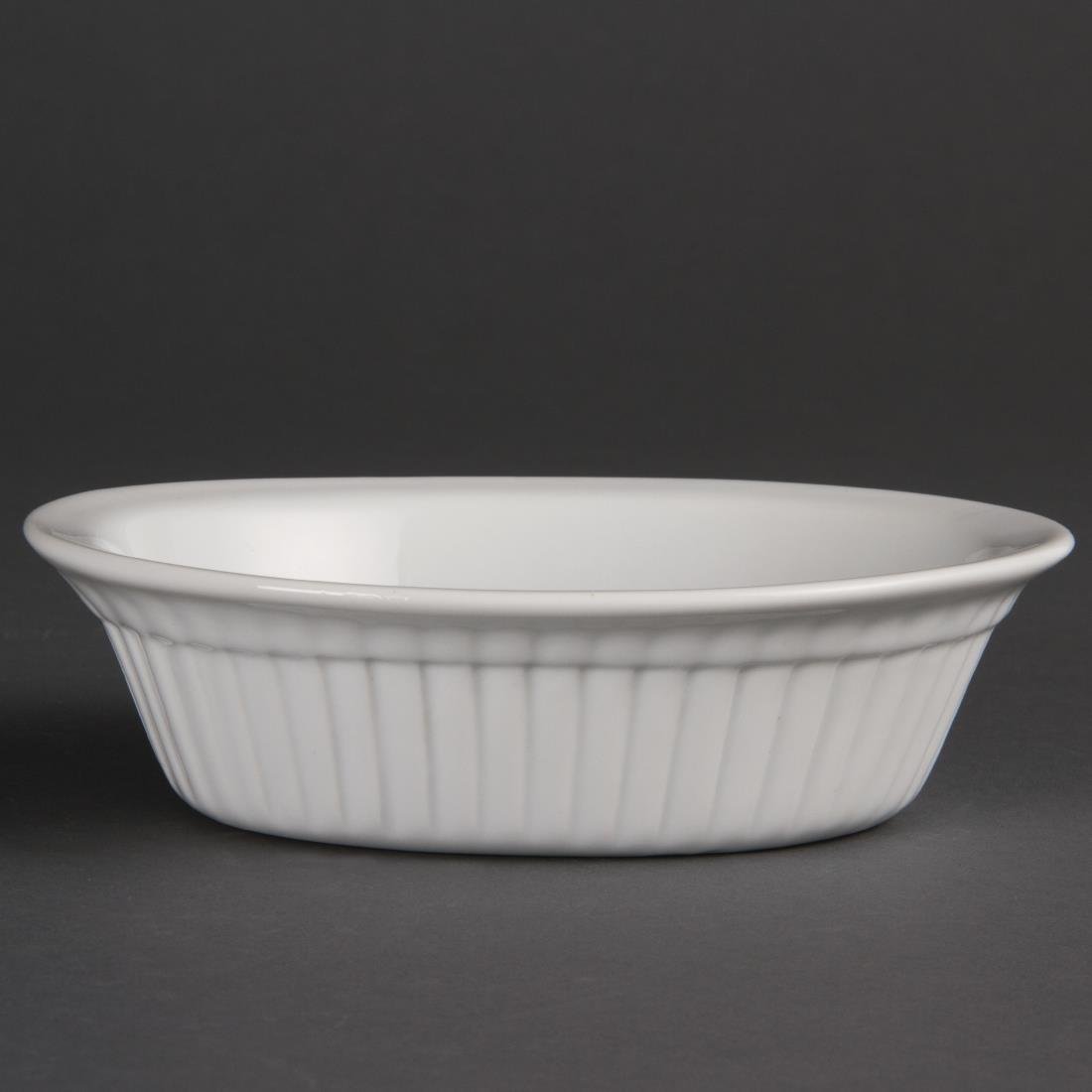 Olympia Whiteware Oval Pie Dishes 170mm