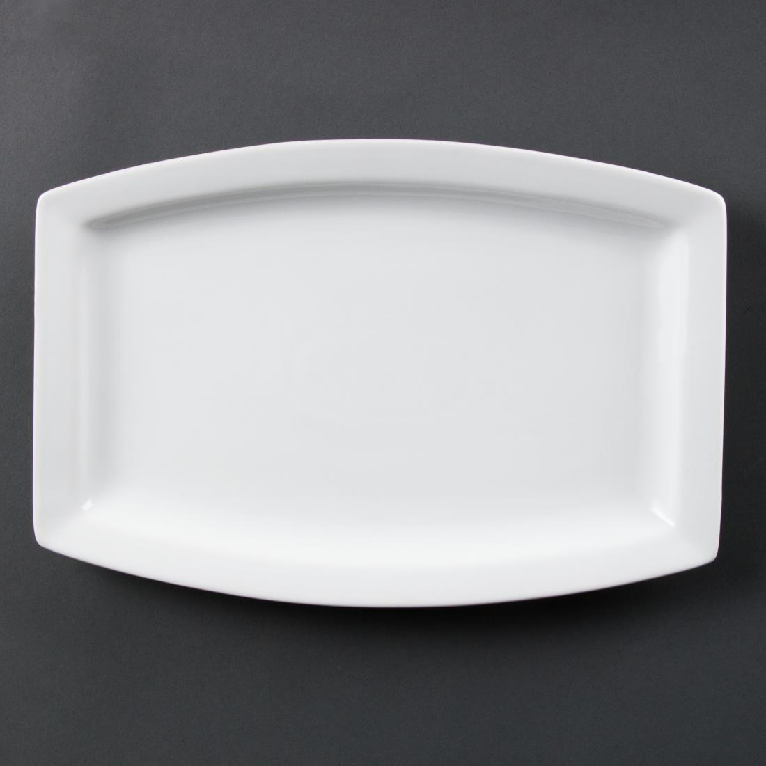Olympia Whiteware Rectangular Plates 320mm