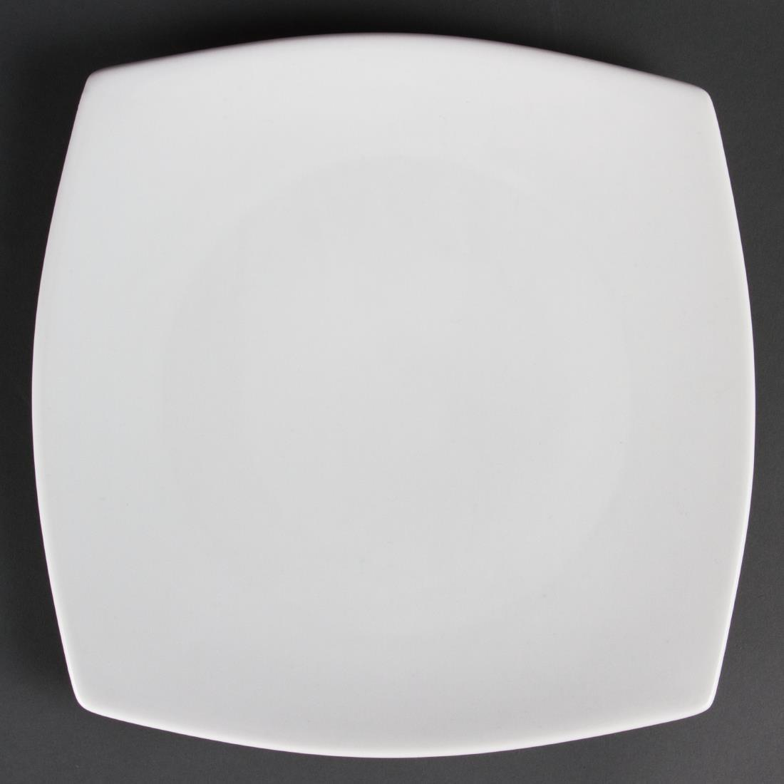 Olympia Whiteware Rounded Square Plates 270mm