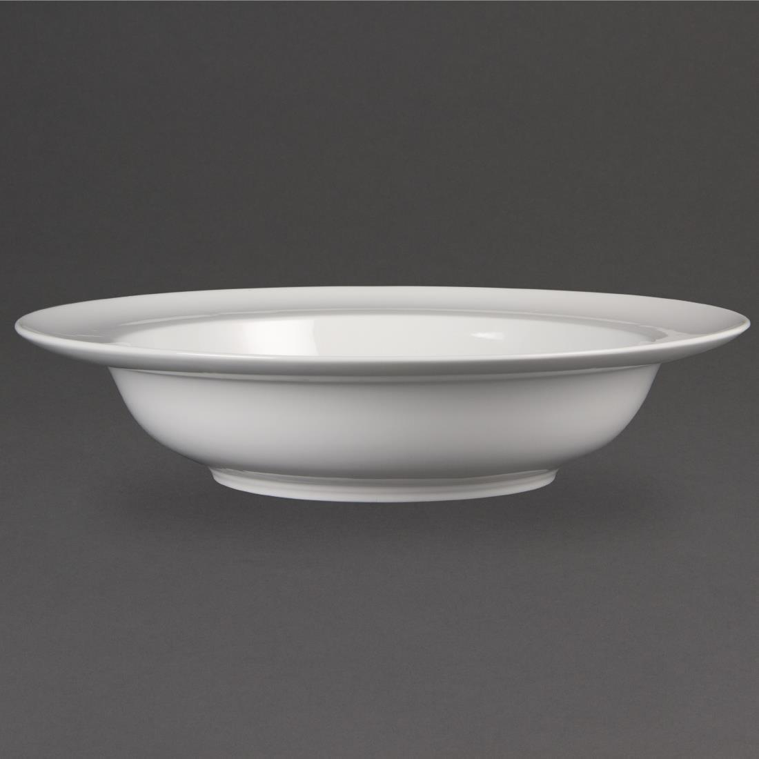 Olympia Whiteware Wide Rim Bowls 228mm 710ml 25oz