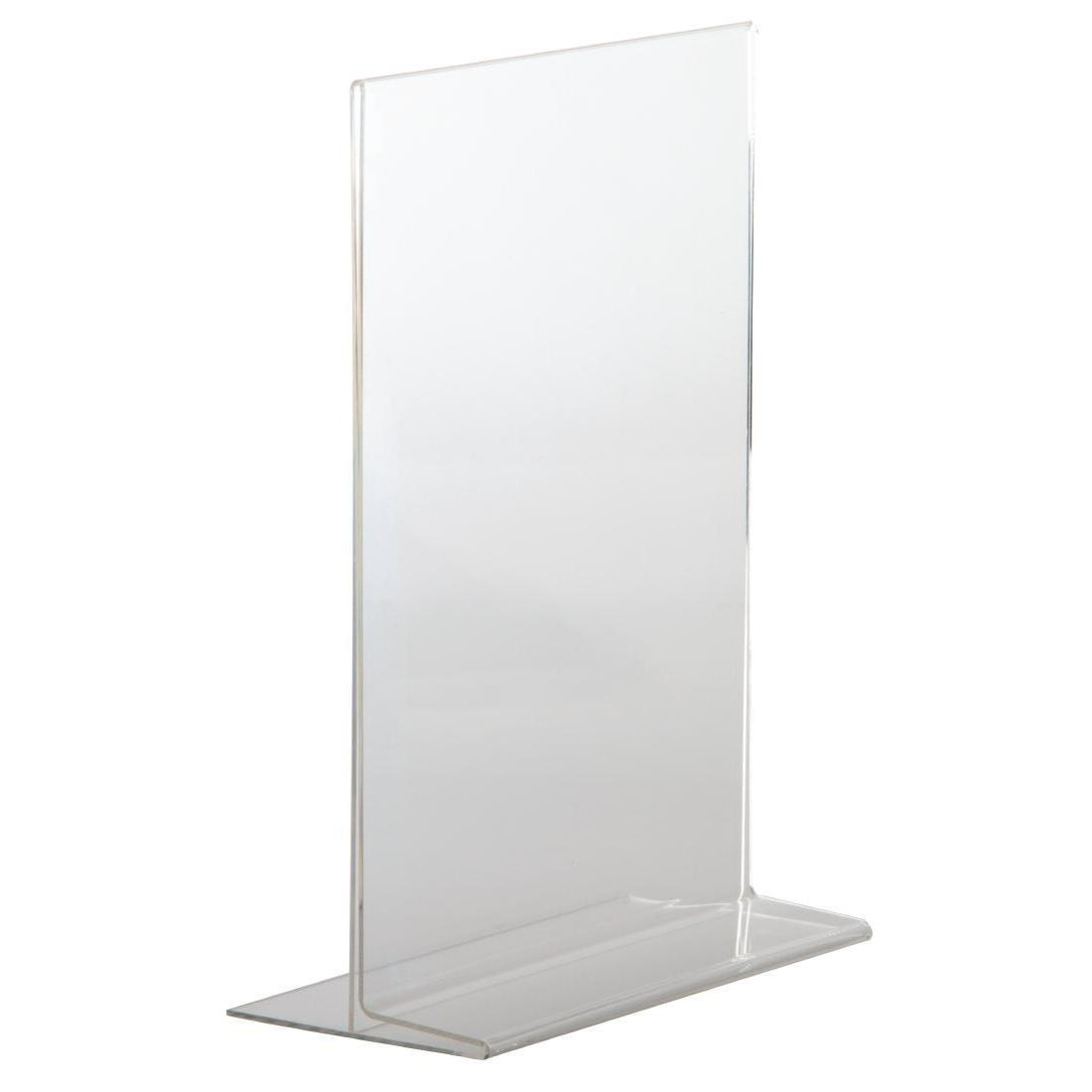 Upright Acrylic Menu Holder A4