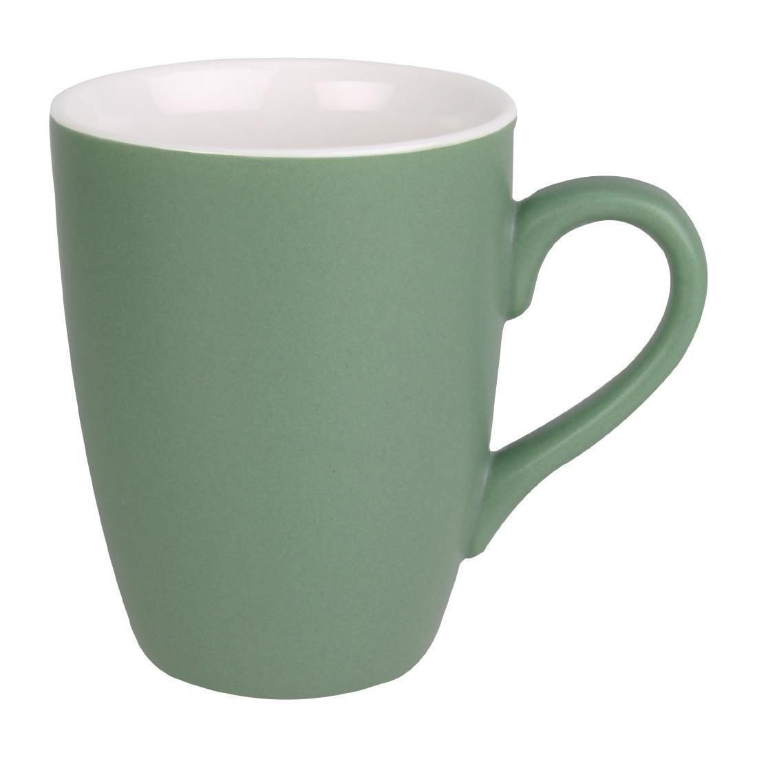 Olympia Matt Pastel Mug Green 340ml