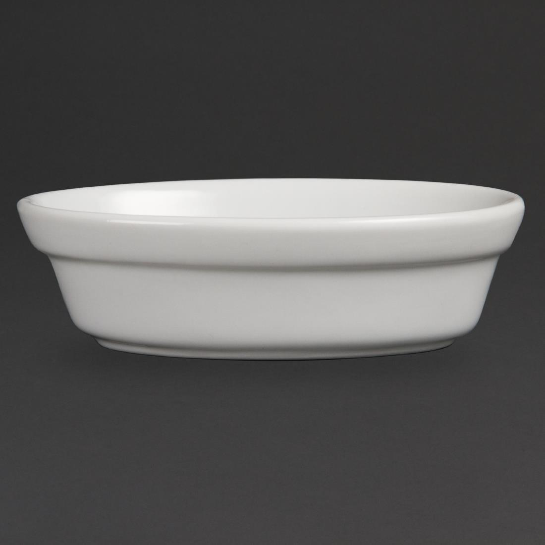 Olympia Whiteware Oval Pie Bowls 145mm