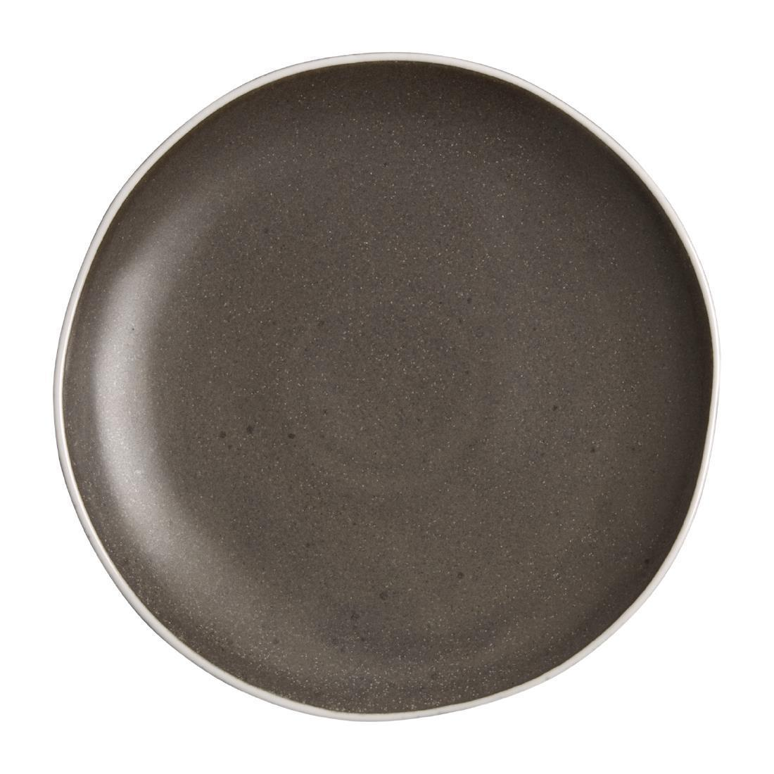 Olympia Chia Plates Charcoal 205mm