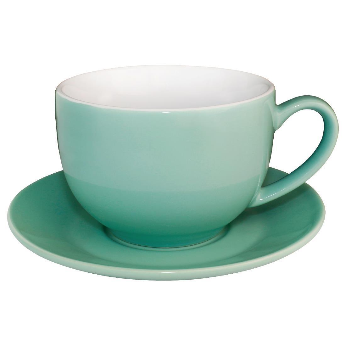 Olympia Cafe Cappuccino Cups Aqua 340ml