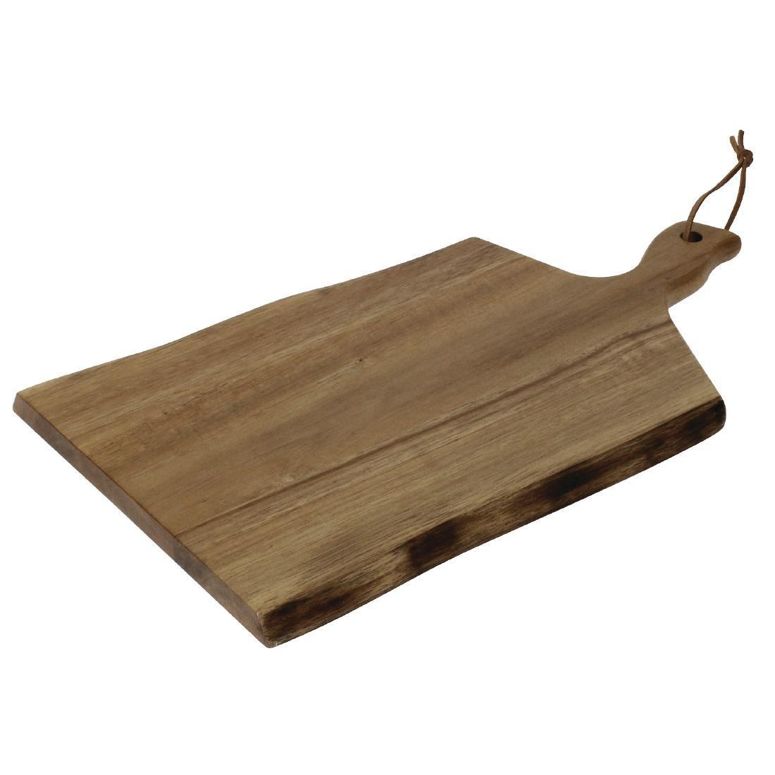 Olympia Acacia Wood Wavy Handled Wooden Board Small 305mm
