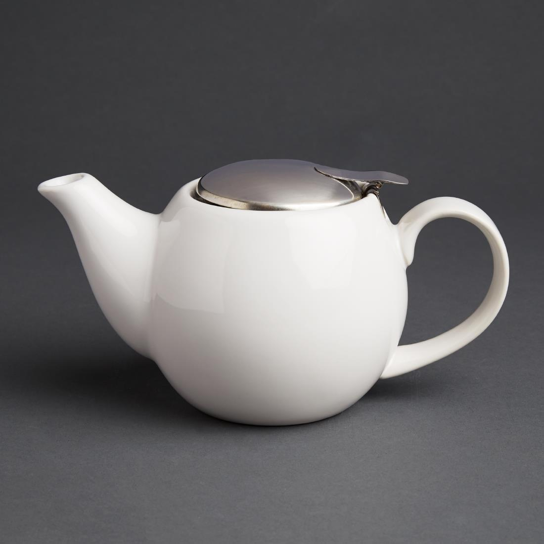Olympia Cafe Teapot 510ml White