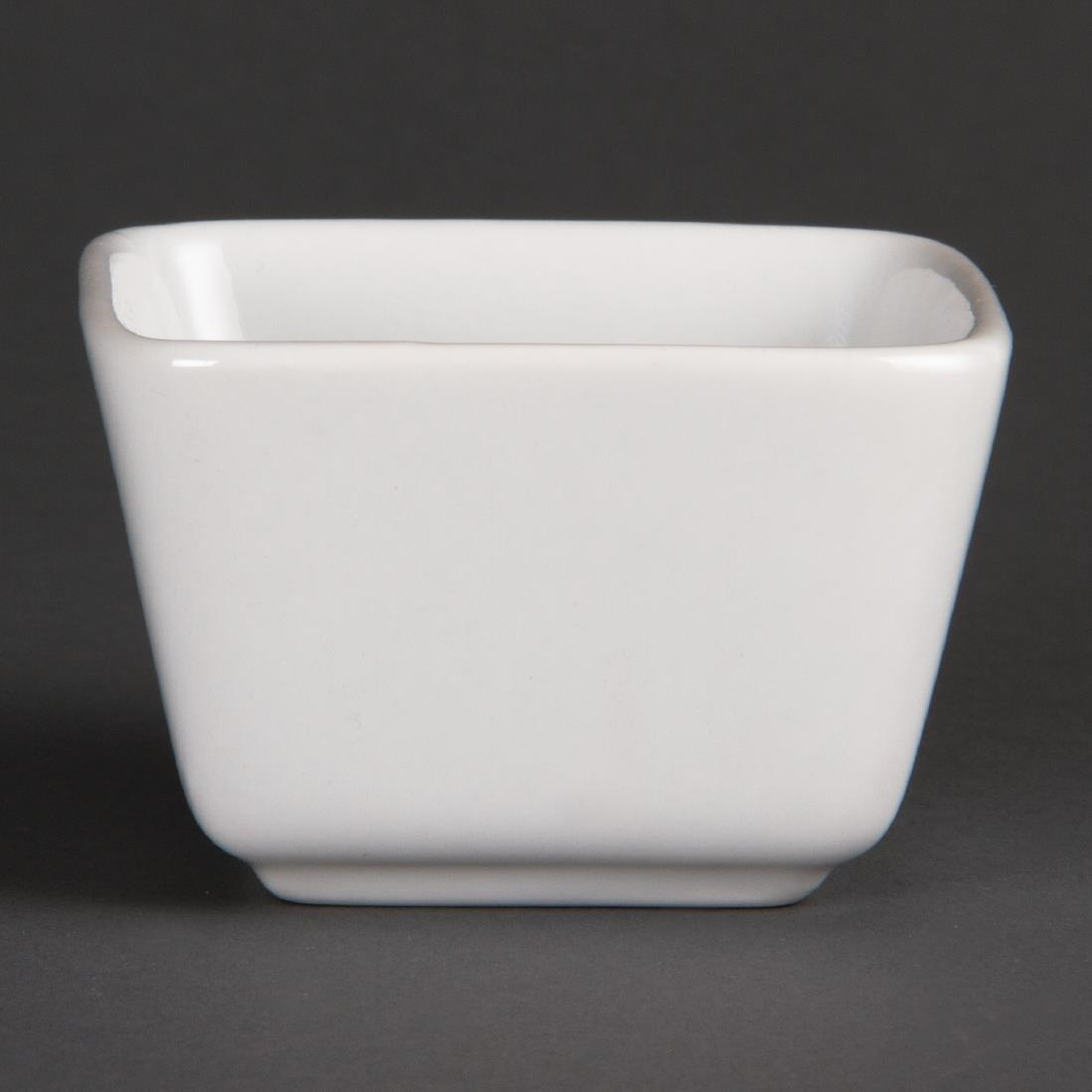 Olympia Whiteware Tall Square Mini Dishes 75mm