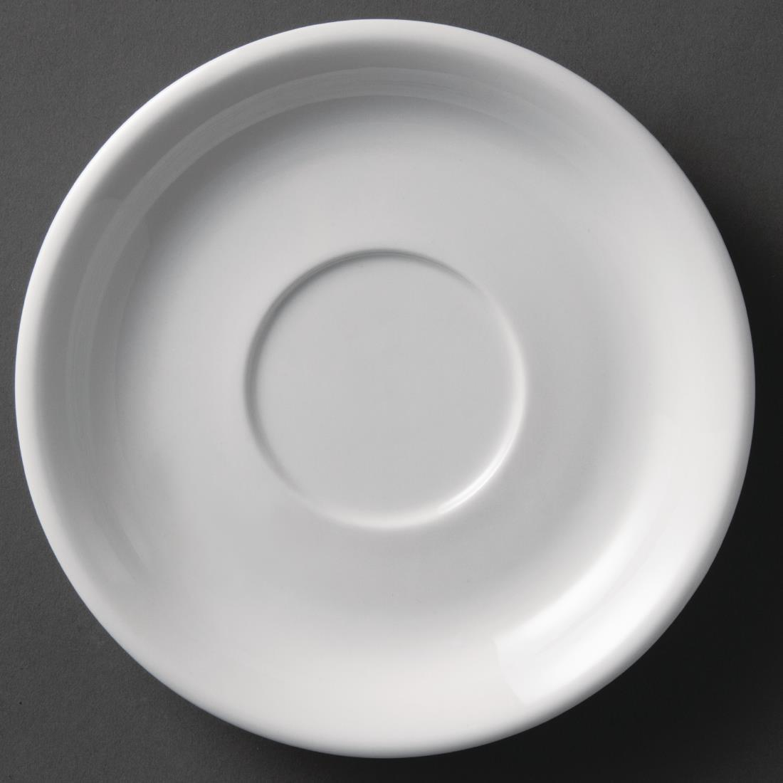 Olympia Whiteware Cappuccino Saucers 180mm