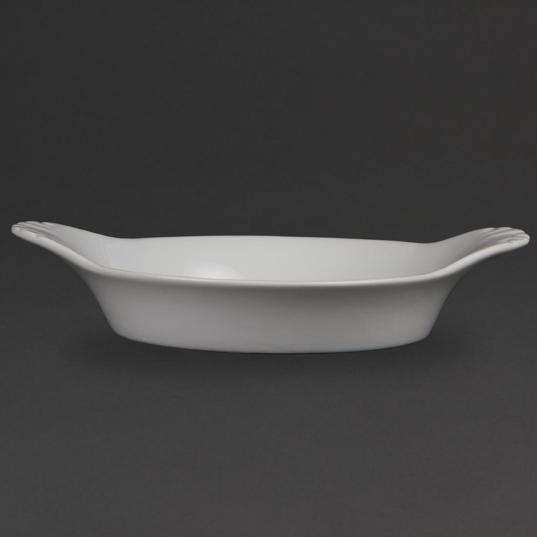 Olympia Whiteware Round Eared Dishes 220mm