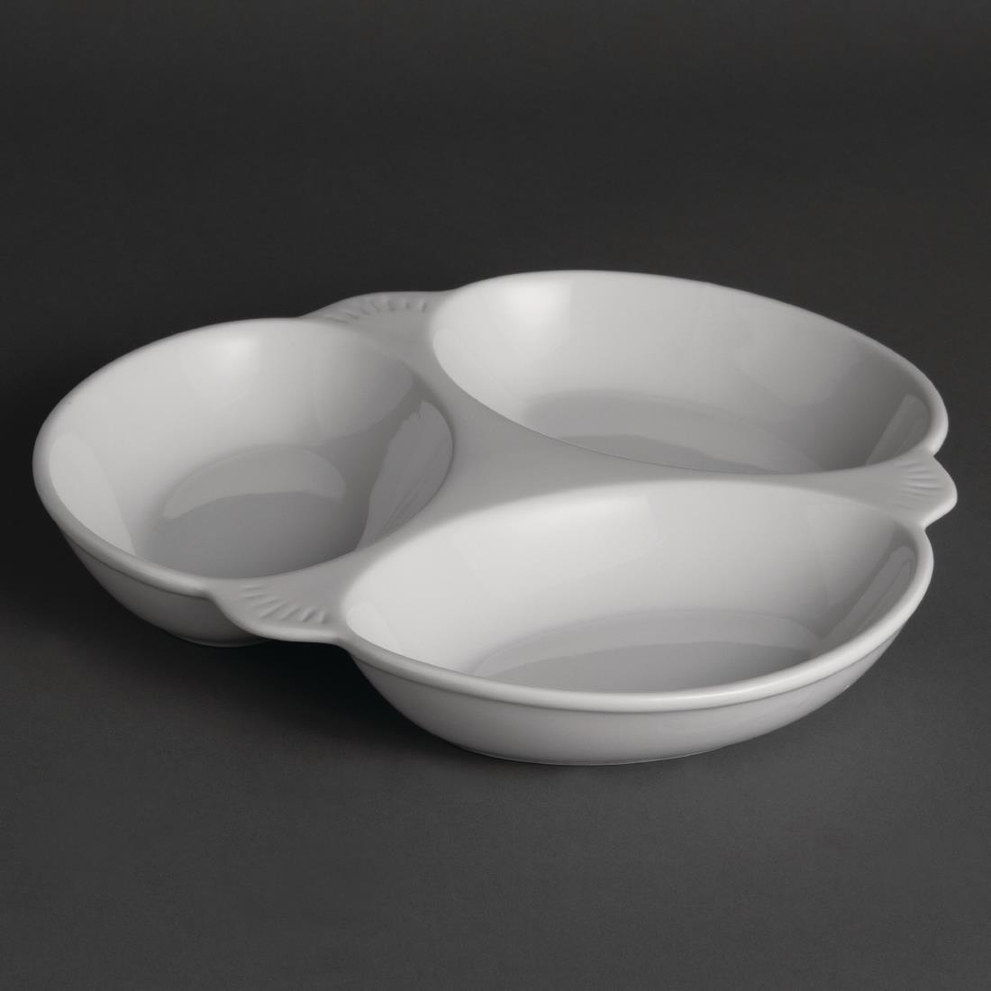 Olympia Vegetable Dishes 3 Section 250mm