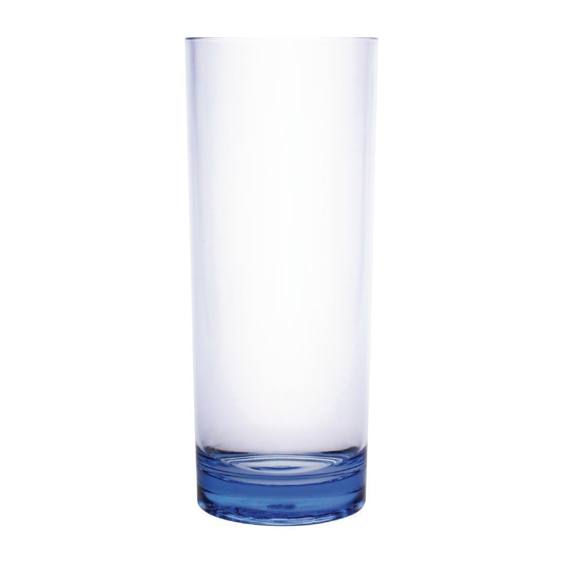 Kristallon Polycarbonate Hi Ball Glasses Blue 360ml - Case 6 - DC925