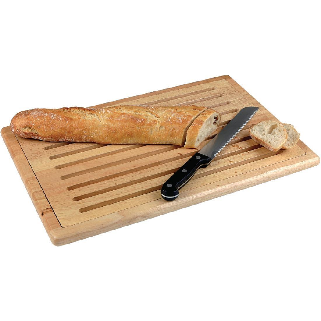 APS Thick Slatted Wooden Chopping Board - Each - CF029