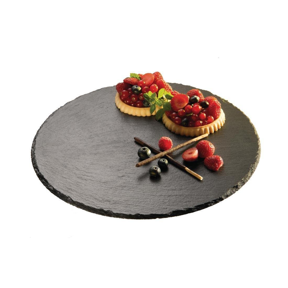 APS Revolving Platter Slate 320mm - Each - CK356