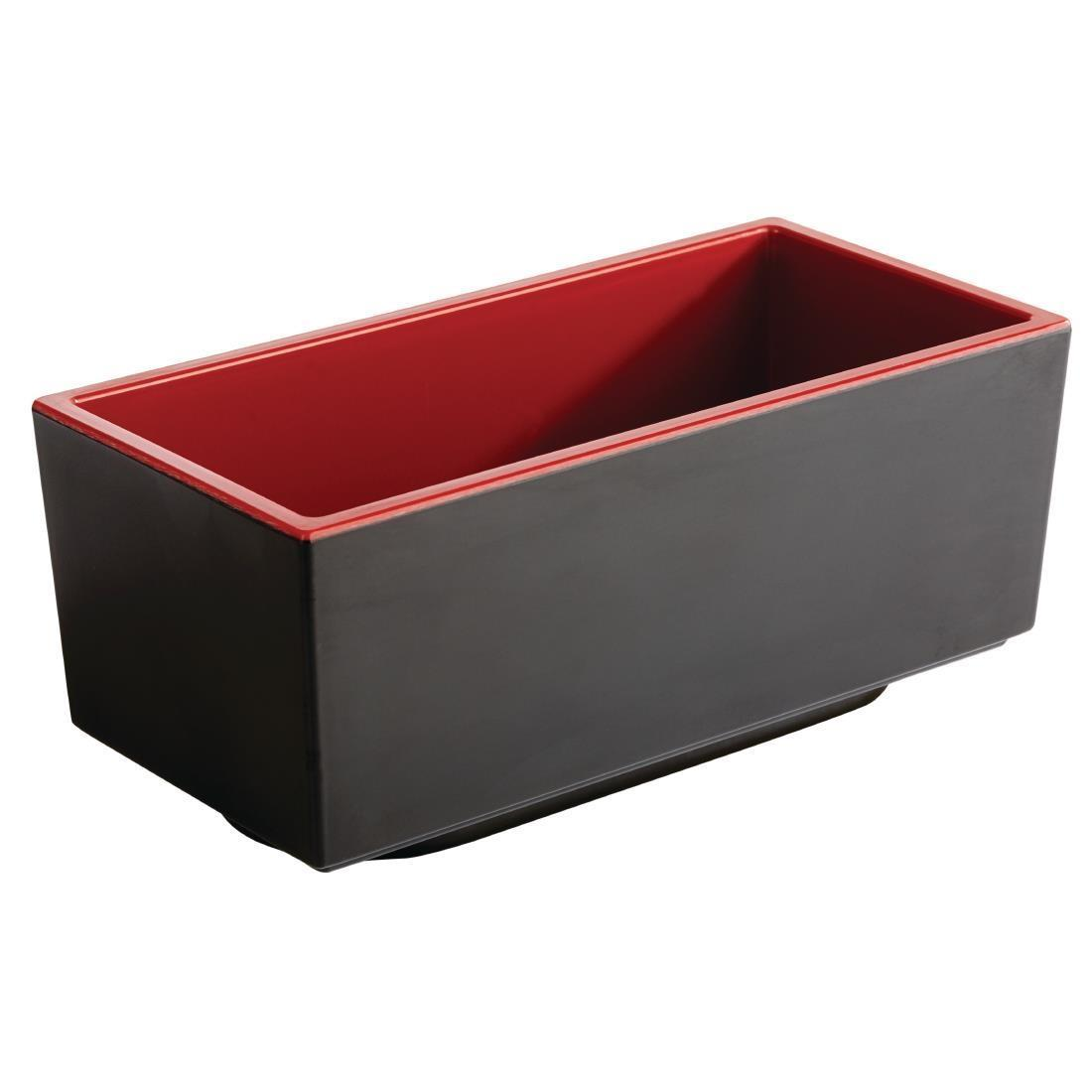 APS Asia+ Deep Bento Box Red 155mm - Each - DW127