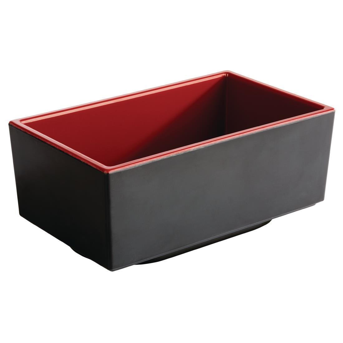 APS Asia+ Deep Bento Box Red 250mm - Each - DW135