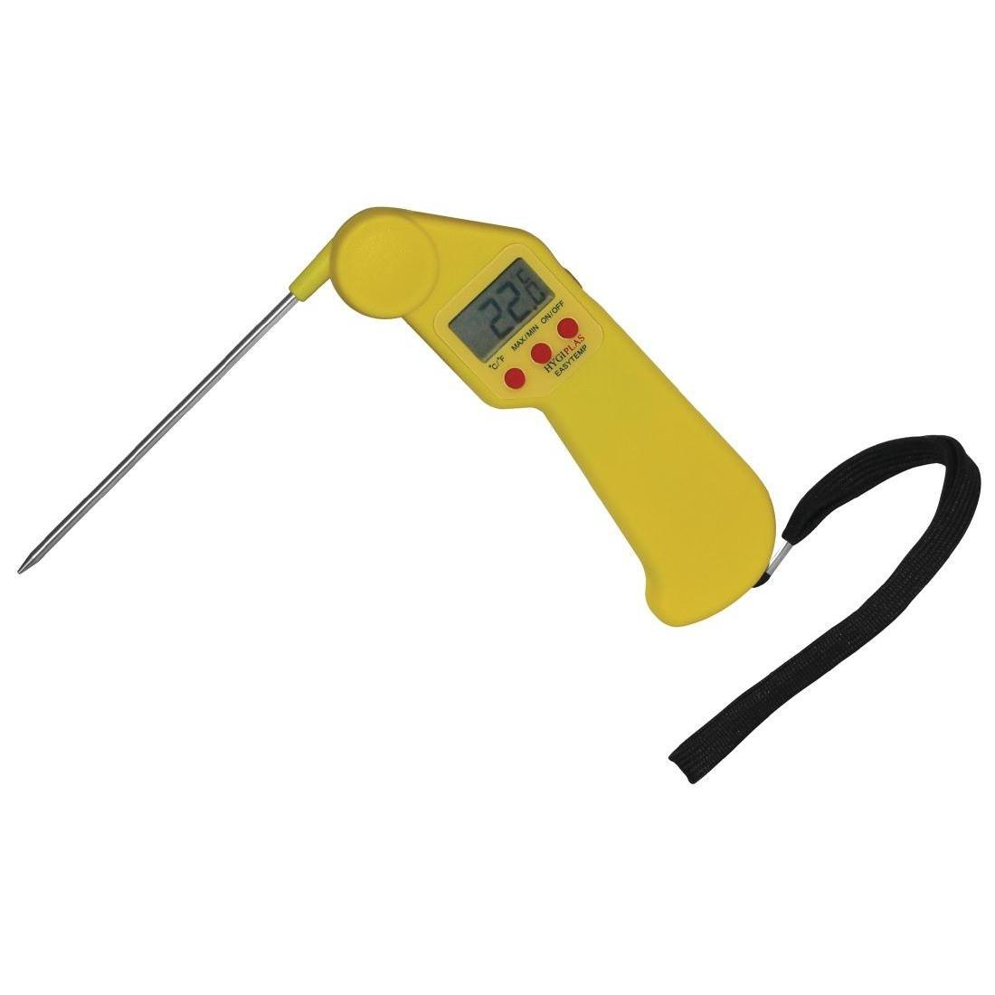 Hygiplas Easytemp Colour Coded Yellow Thermometer