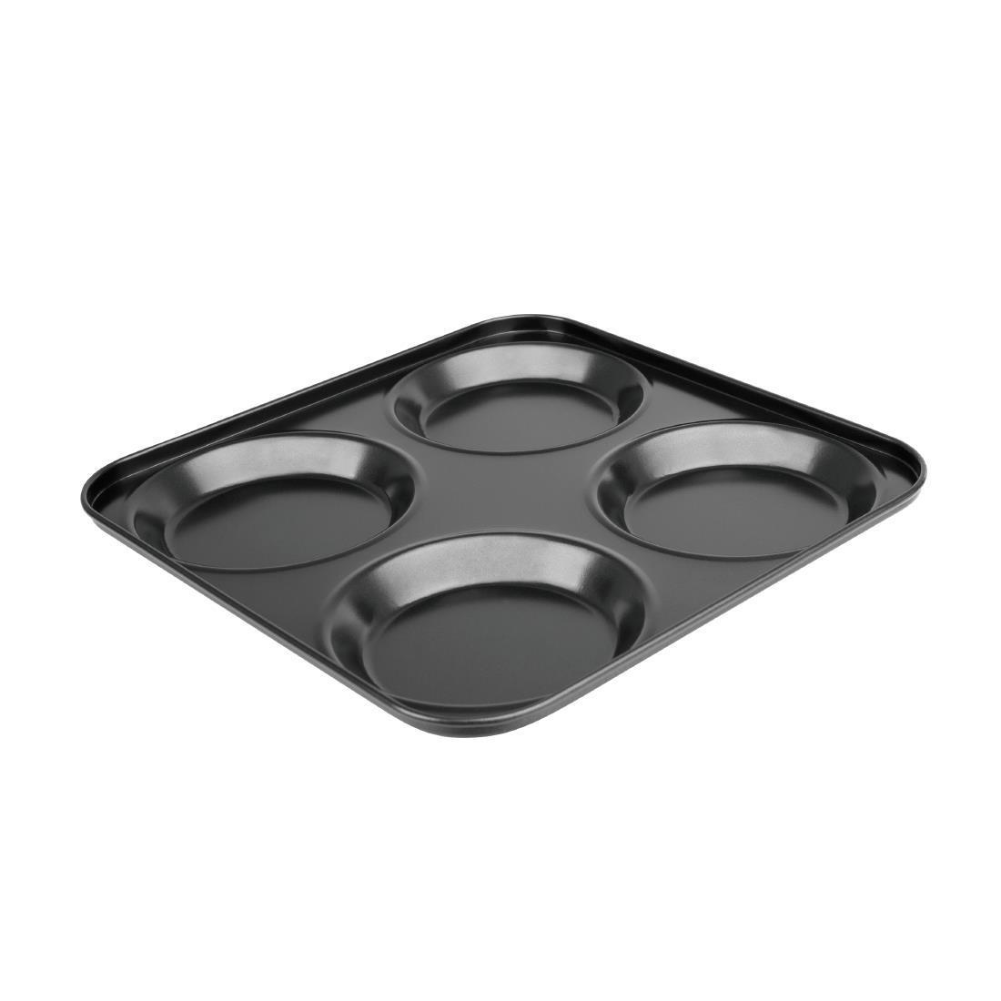 Vogue Carbon Steel Non-Stick Yorkshire Pudding Tray 4 Cup - Each - GD012