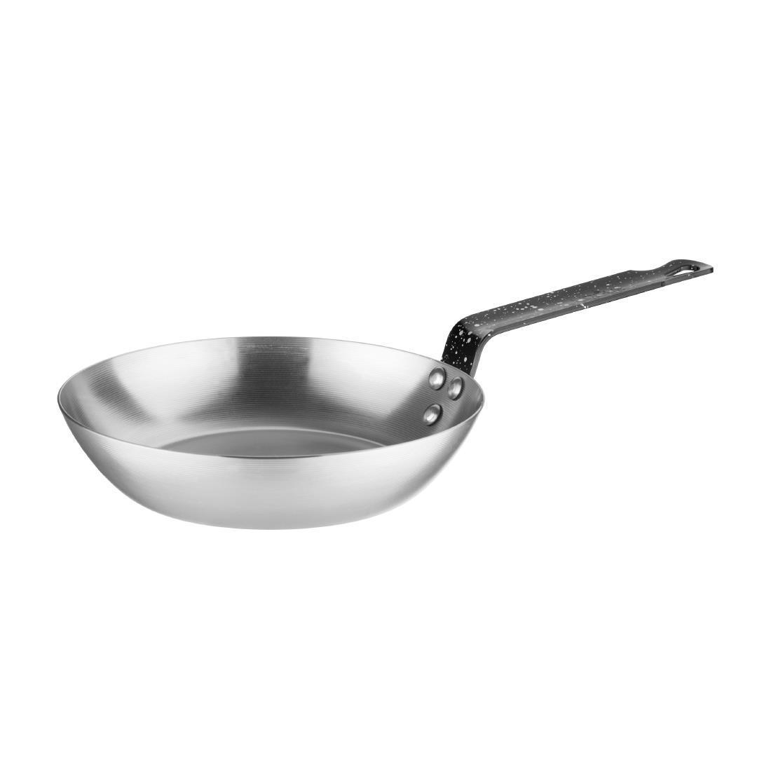 Vogue Black Iron Induction Frying Pan 200mm - Each - GD063