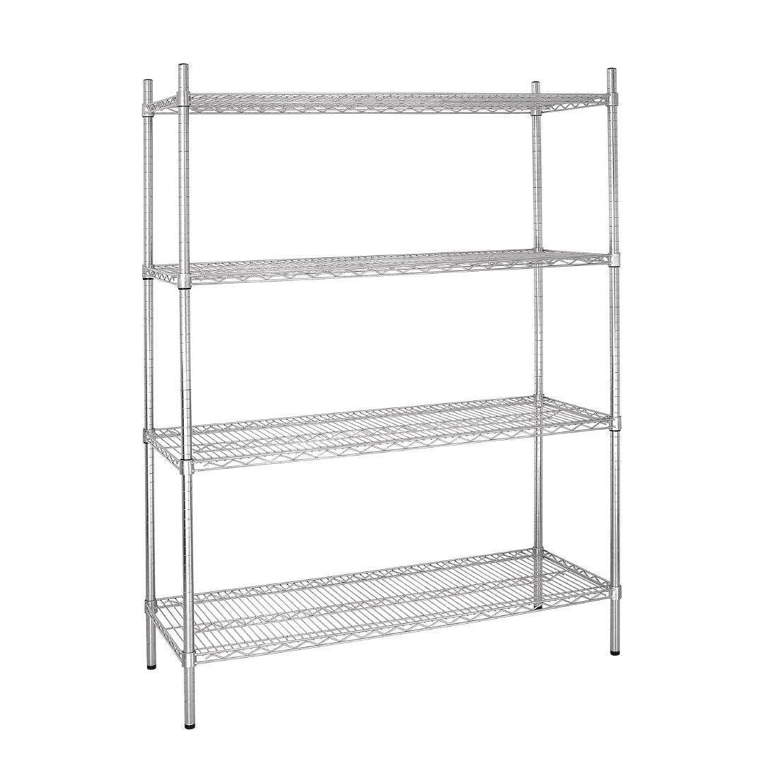 Vogue 4 Tier Wire Shelving Kit 1525x460mm - L929