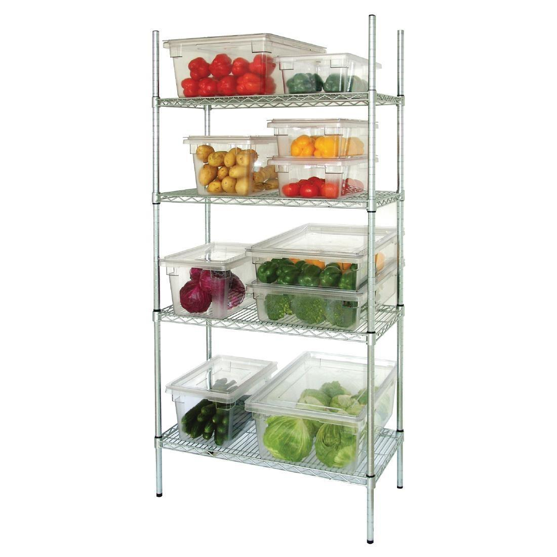 Vogue 4 Tier Wire Shelving Kit 1830x460mm - L939