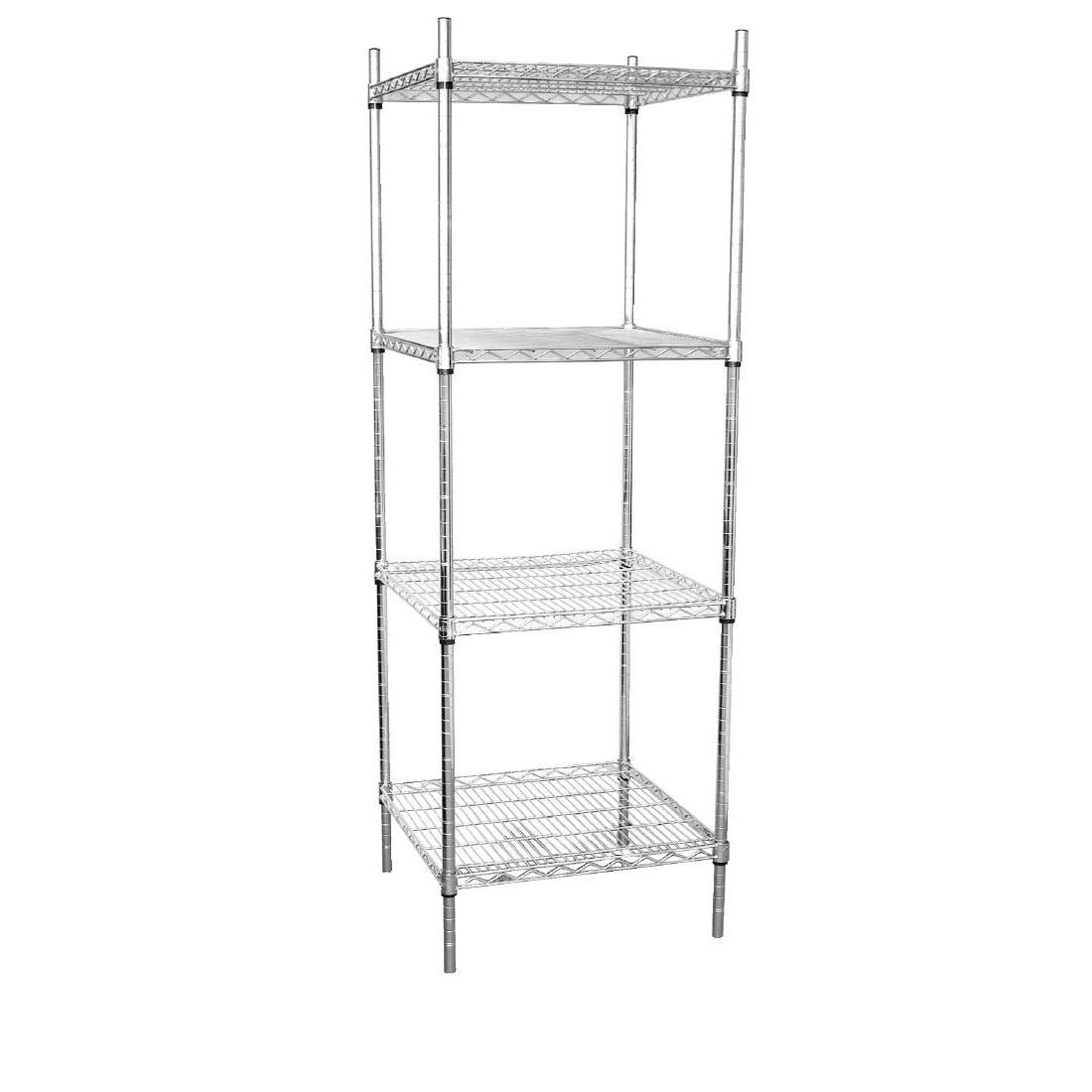 Vogue 4 Tier Wire Tower Unit 610x610mm - U884