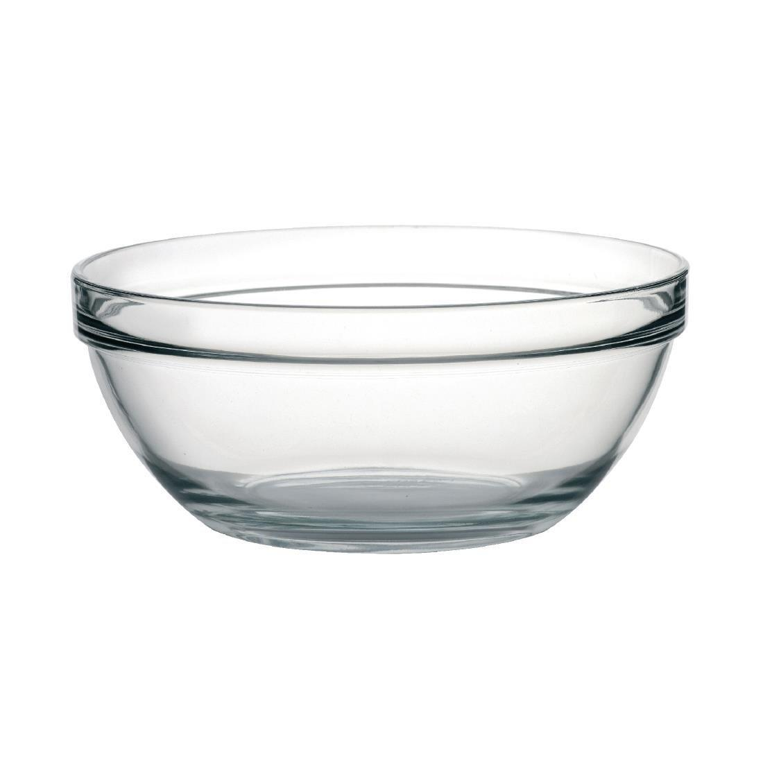 "Arc Chefs Glass Bowl - 4.3Ltr 145oz 26cm 10 1/4"" (Box 6) - E553"