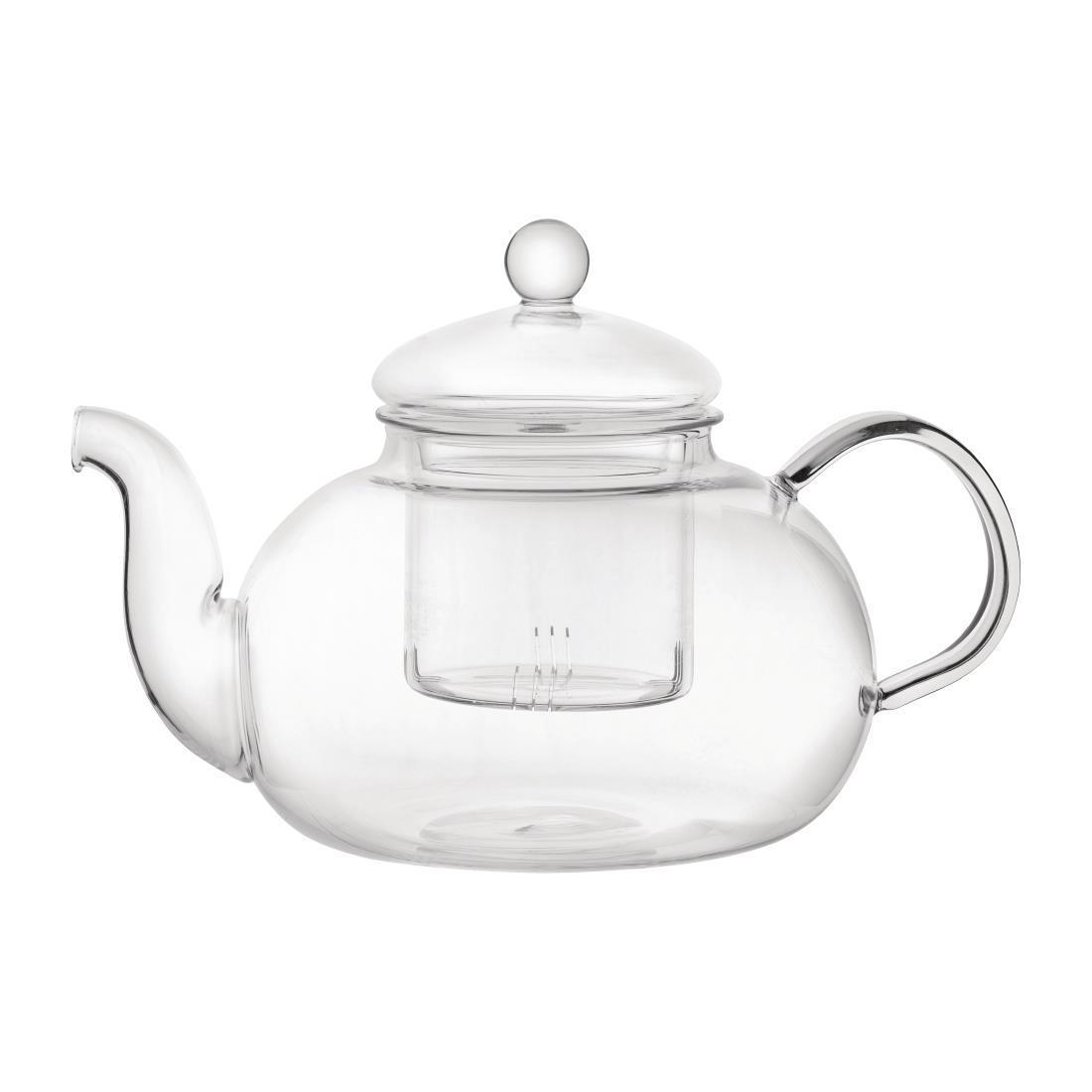Utopia Long Island Glass Teapot - 1Ltr (Box 6) - CN987
