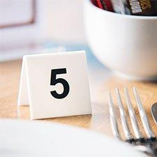 Table Numbers and Reserve Signs