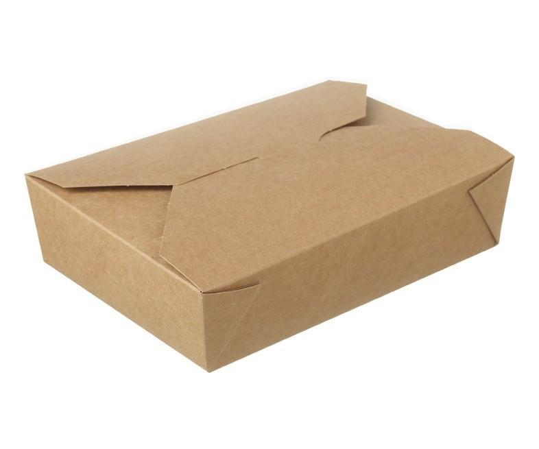 Kraft Hot Food Box Compostable #10 - 400ml
