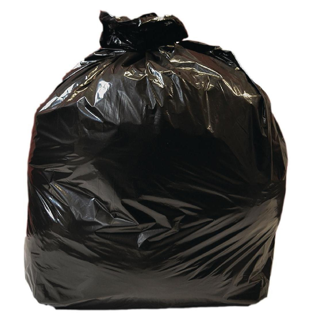 Jantex Large Medium Duty Black Bin Bags 90Ltr
