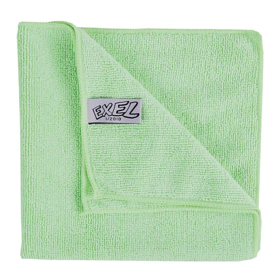 Jantex Microfibre Cloths Green