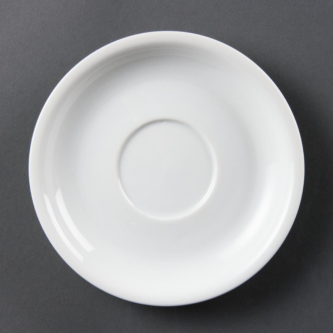 Olympia Whiteware Cappuccino Saucers 160mm