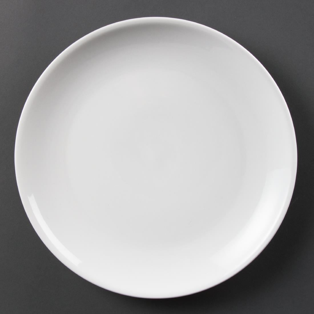 Olympia Whiteware Coupe Plates 280mm