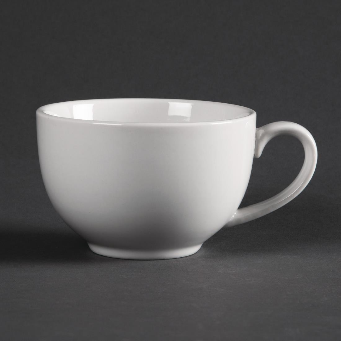 Olympia Whiteware Elegant Cups 230ml 8oz