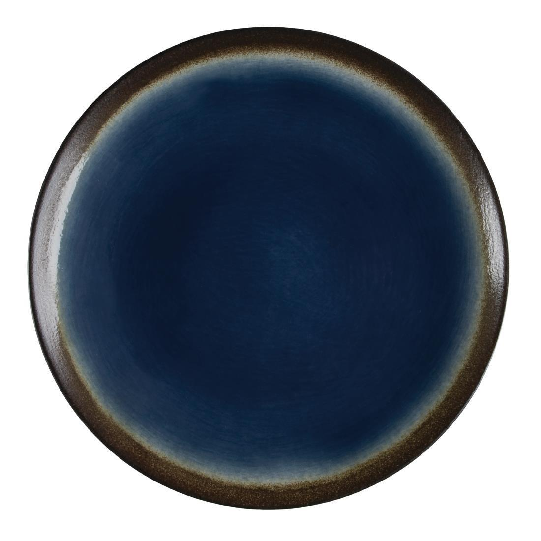 Olympia Nomi Round Coupe Plate Blue 255mm