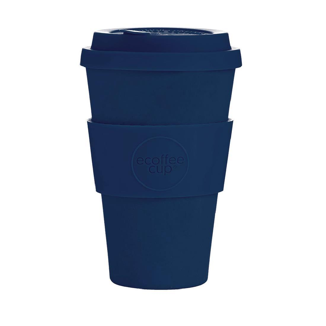 Ecoffee Cup Bamboo Reusable Coffee Cup Dark Energy Navy 14oz - Each - DY492