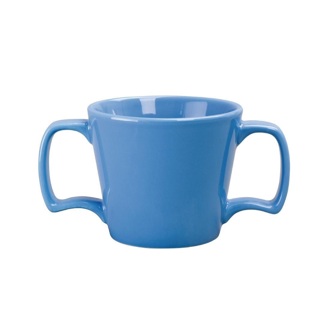 Olympia Heritage Double Handle Mug Blue 300ml