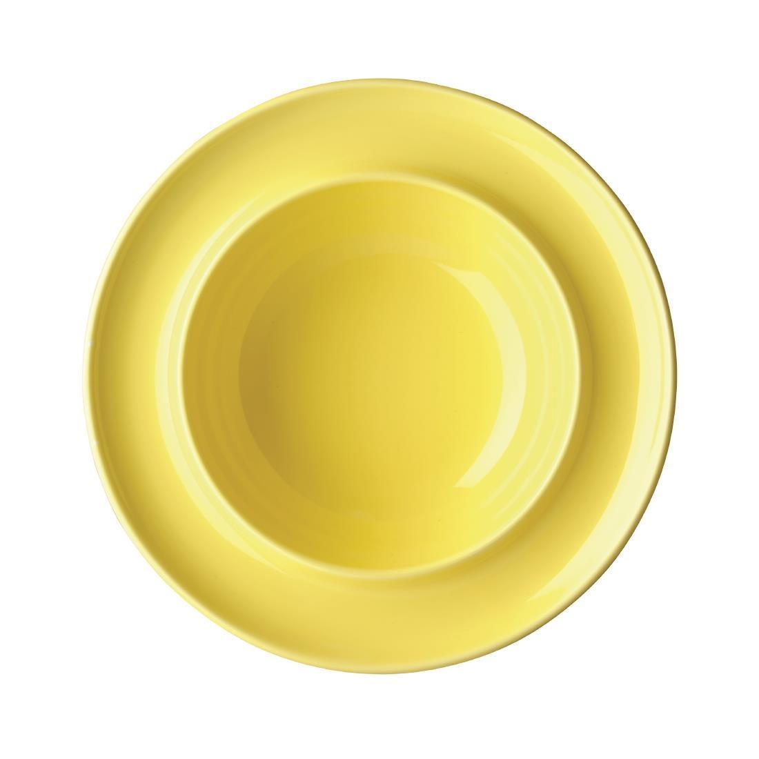 Olympia Heritage Raised Rim Bowls Yellow 205mm