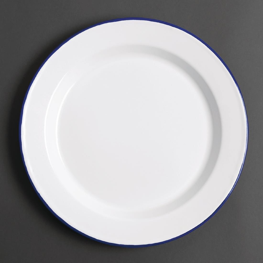 Olympia Enamel Dinner Plates 245mm