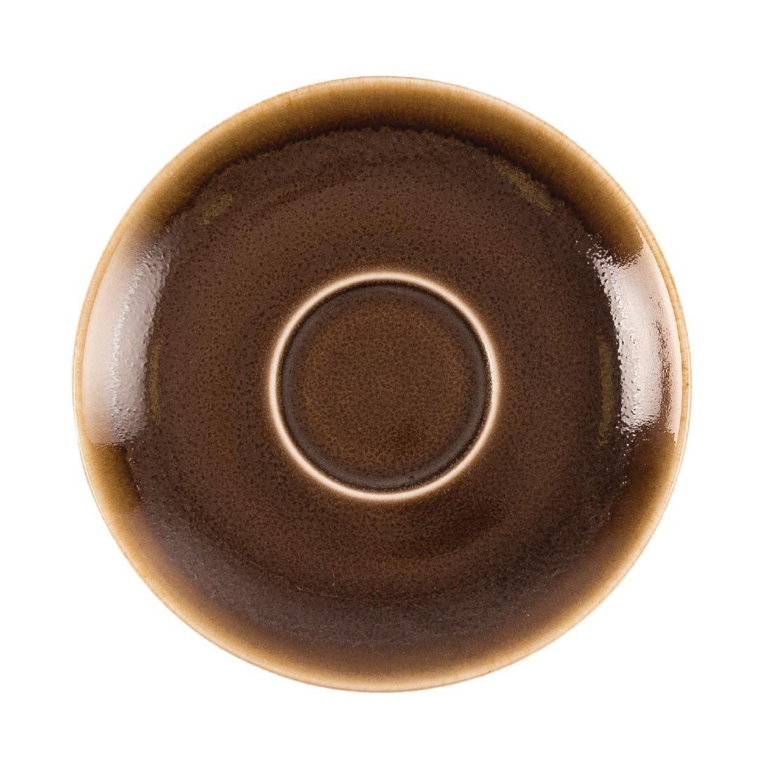 Olympia Kiln Cappuccino Saucer Bark 140mm